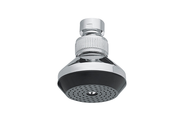 CHROME-PLATED BRASS SHOWER HEAD WITH  JOINT AND WHITE OR BLACK WATER FILTER